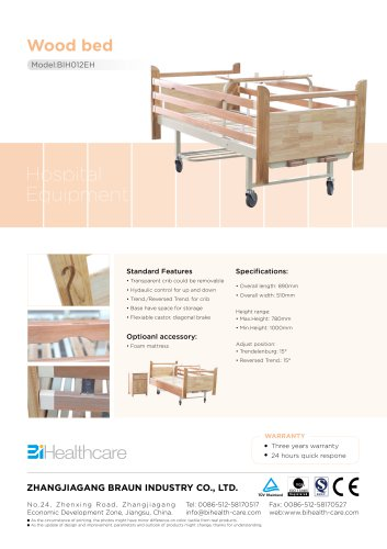 Brochure_Homecare bed(BIH012MH)_BI Healthcare