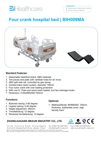 Brochure-Hospital bed(BIH009MA)-BiHealthcare