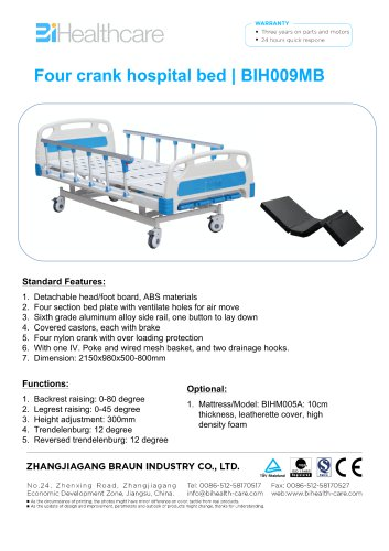 Brochure-Hospital bed(BIH009MB)-BiHealthcare