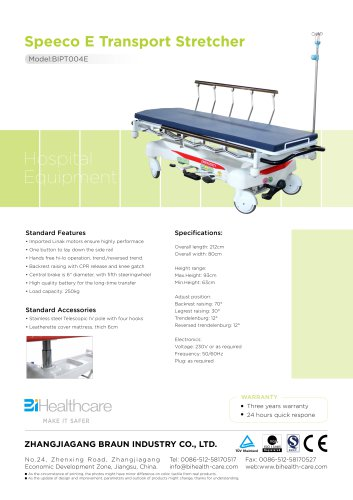 Brochure_Speeco E Transportation Stretcher(BIPT004E)_BiHealthcare