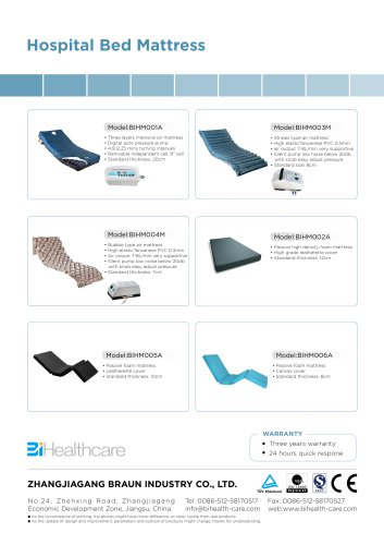 Catalogue_Hospital bed mattress_BI Healthcare