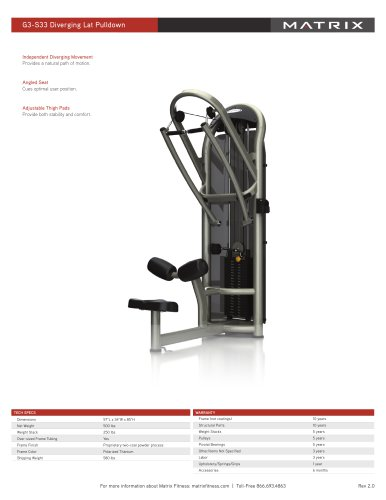 G3-S33 Diverging Lat Pulldown
