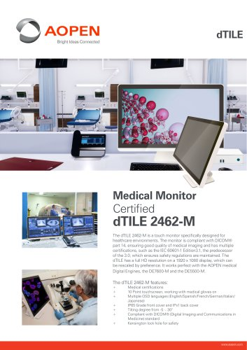 Specsheet 23.8'' Medical Monitor