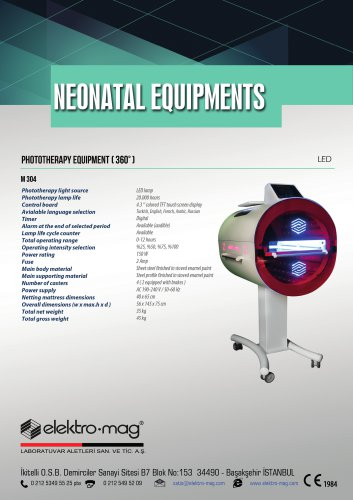 PHOTOTHERAPY EQUIPMENT (360°) M 304