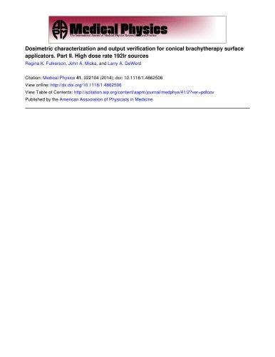 Ii Dosimetric Characterization Output Verify