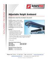 Adjustable Height Armboard Sell Sheet