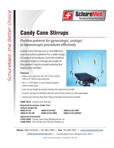 Candy Cane Stirrups Sell Sheets