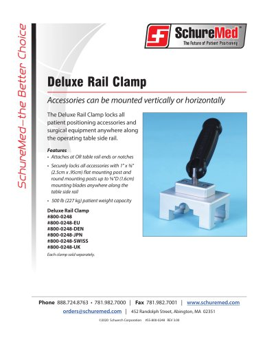 Deluxe Rail Clamp Sell Sheet