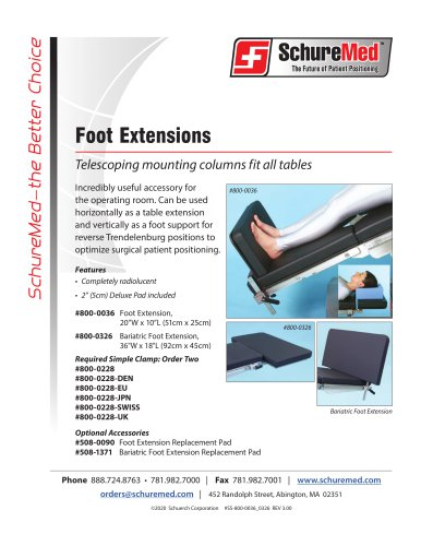 Foot Extension Sell Sheet