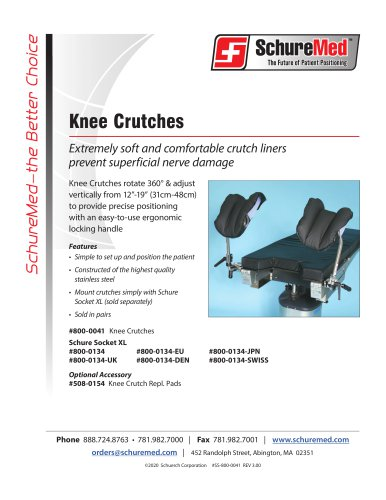 Knee Crutches Sell Sheet