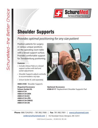 Shoulder Supports Sell Sheet