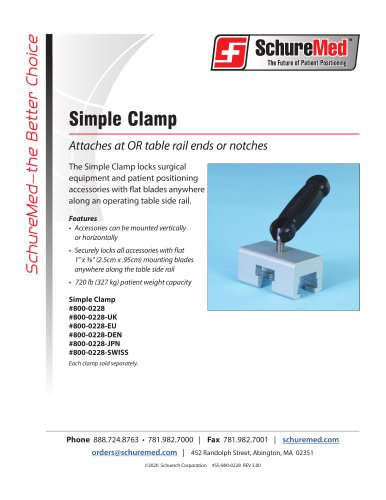 Simple Clamp Sell Sheet