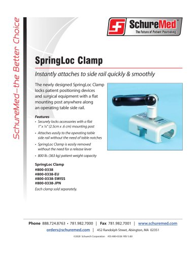 SpringLoc Clamp Sell Sheet