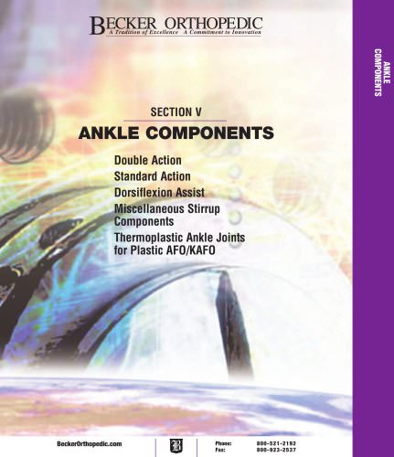 ANKLE COMPONENTS