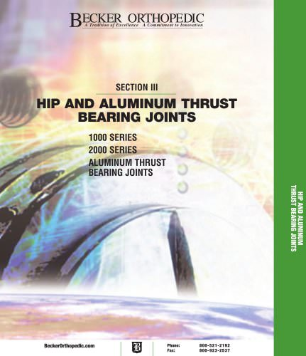 HIP AND ALUMINUM THRUST BEARING JOINTS