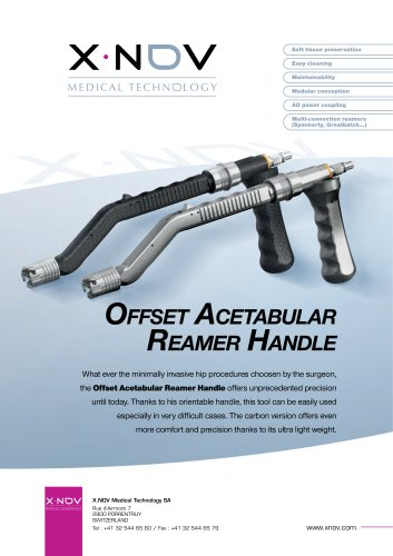 Offset Acetabular reamer Handle
