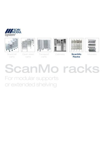 ScanMo Racks - for modular supports or extended shelving