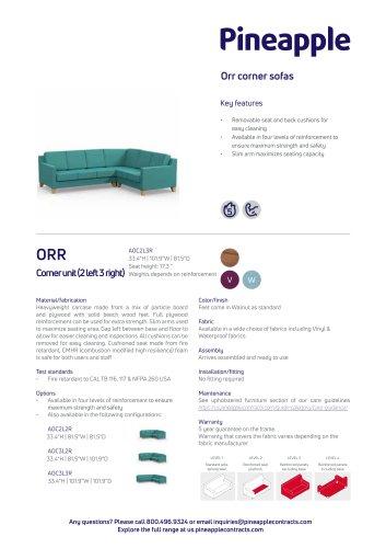 Orr corner sofas