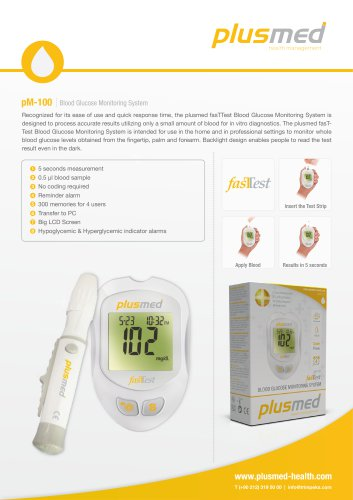pM-100 FasTTest / Blood Glucose Monitor