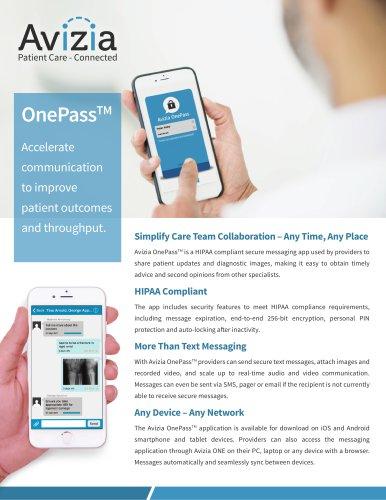 Avizia OnePass - Provider to Provider Messaging Mobile
