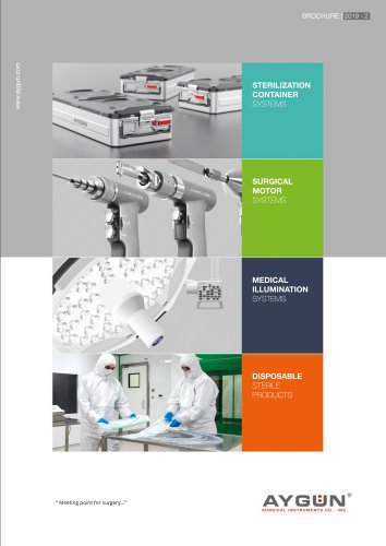 BROCHURE | 2017 - Aygun Surgical Instruments - PDF Catalogs