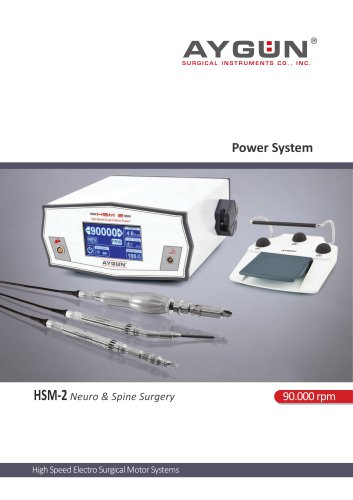 High Speed Motor - Neuro and Spine Surgery