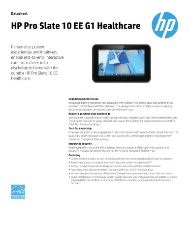 HP Pro Slate 10 EE G1 Healthcare