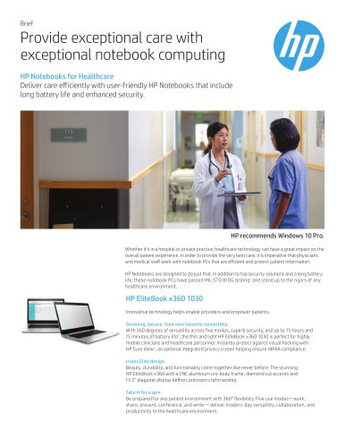 Provide exceptional care with  exceptional notebook computing