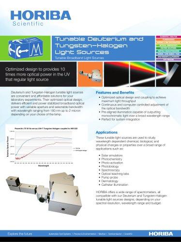Tunable Deuterium and Tungsten-Halogen Light Sources
