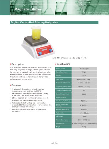 Digital Controlled Stirring Hotplates