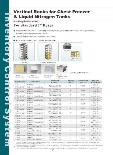 Vertical Racks for Chest Freezer & Liquid Nitrogen Tanks