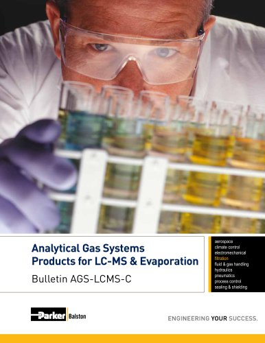 Analytical Gas Systems Products for LC-MS & Evaporation