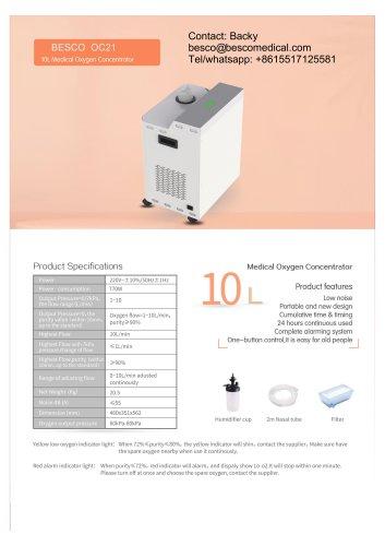 10L 5L oxygen concentrator