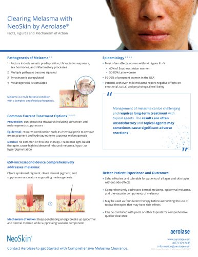 NeoSkin Melasma FAQ Sheet