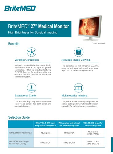 BriteMED MMS-27 Endoscopy Monitor Series