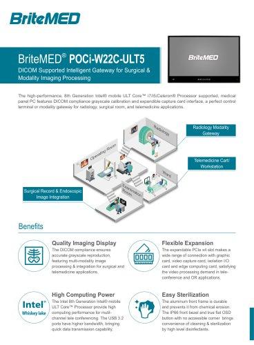 BriteMED Modality Panel PC-POCi-W22C