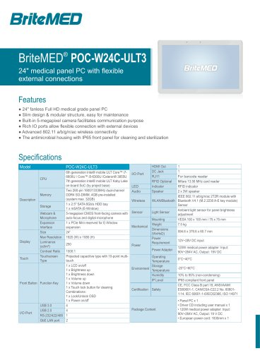 BriteMED® POC-W24C-ULT3