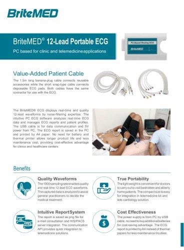 BriteMED Portable PC ECG_ECG-D12-10SI