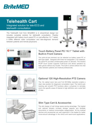 BriteMED Telehealth Cart