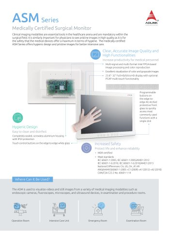 ASM Series Product Brief
