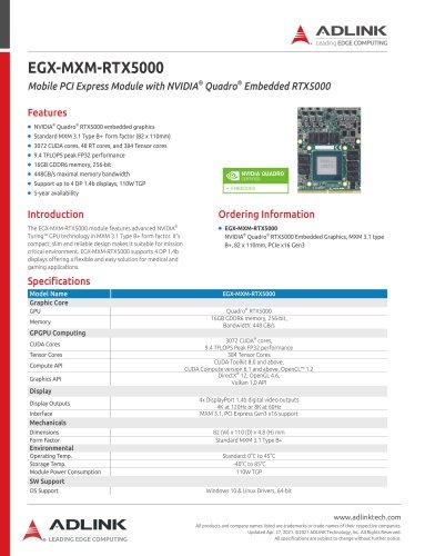 EGX-MXM-RTX5000