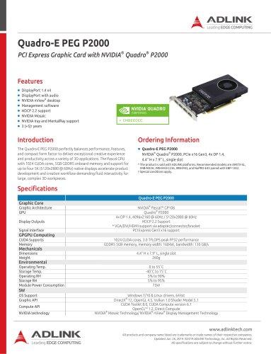 Quadro-E PEG P2000