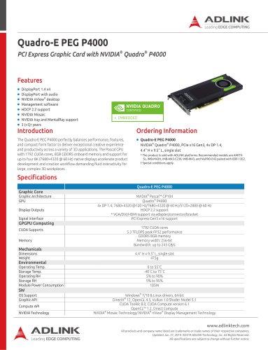 Quadro-E PEG P4000