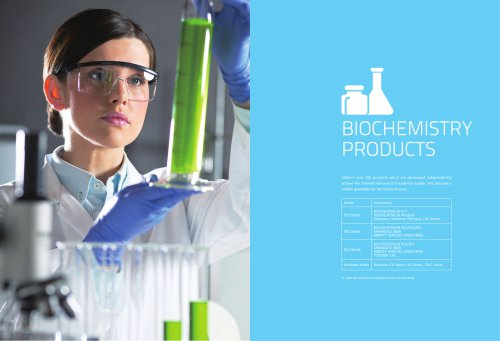 Biochemistry/Clinical chemistry reagents