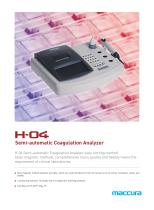 H-04 Semi-Auto Coagulation Analyzer
