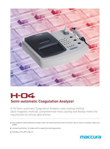 H-04 Semi-Auto Coagulation Analyzer