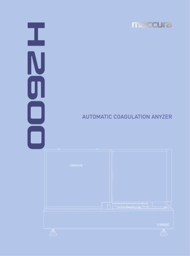 H2600 Automatic Coagulation Analyzer