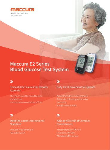 Maccura E2 Series Blood Glucose Test System
