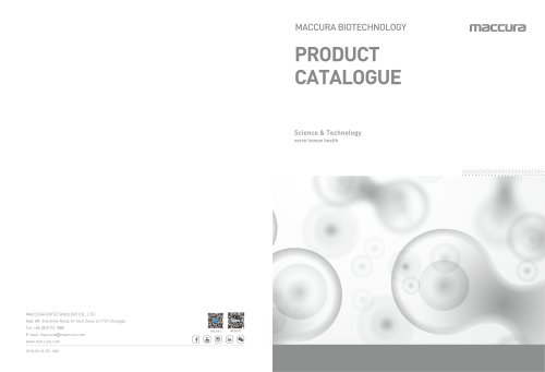 Maccura Profile and Product Catalog