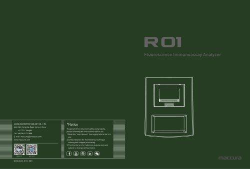 R 01 Fluorecence Immunoassay Analyzer